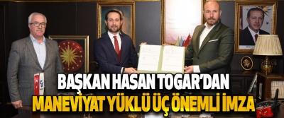 Başkan Togar'dan Maneviyat Yüklü Üç Önemli İmza