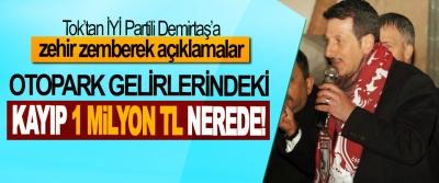 Başkan Tok; Sözde dürüst başkan Demirtaş, Otopark Gelirlerindeki Kayıp 1 Milyon TL Nerede!