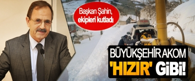 Başkan Zihni Şahin, AKOM ekiplerini kutladı