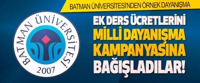 Batman Üniversitesi'nden Örnek Dayanışma