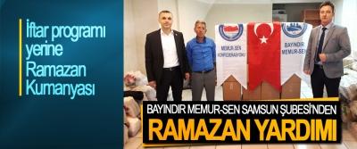 Bayındır Memur-Sen Samsun Şubesi'nden Ramazan Yardımı