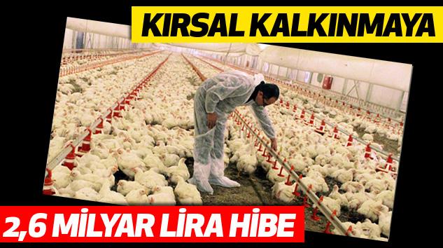 Kırsal Kalkınmaya 2,6 Milyar Lira Hibe