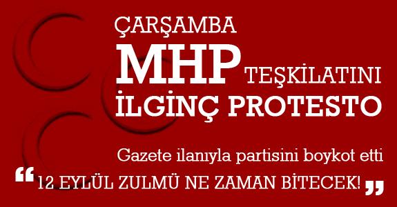Çarşamba MHP teşkilatını ilginç bir protesto
