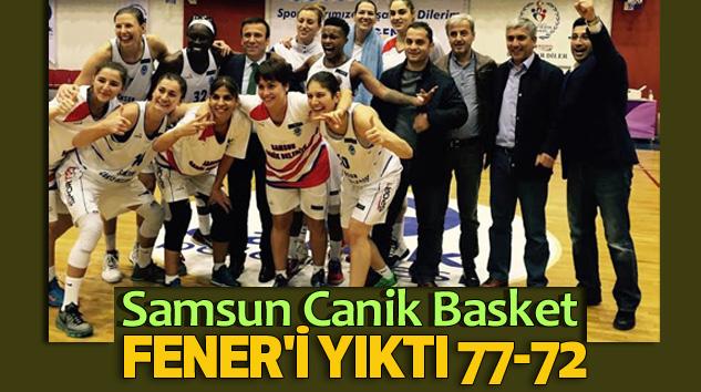 Samsun Canik Basket Fener'i Yıktı 77-72