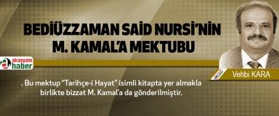 Bediüzzaman said nursi'nin m. Kamal'a mektubu