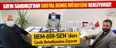 BEM-BİR-SEN 'den Canik Belediyesine Ziyaret