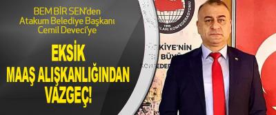 BEM BİR SEN'den Atakum Belediye Başkanı Cemil Deveci'ye
