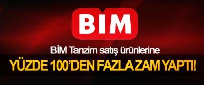 BİM Tanzim satış ürünlerine Yüzde 100'den fazla zam yaptı!