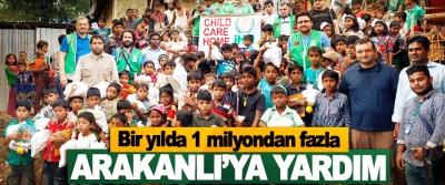 Bir yılda 1 milyondan fazla Arakanlı'ya Yardım