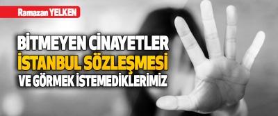 Bitmeyen Cinayetler, İstanbul Sözleşmesi ve Görmek İstemediklerimiz