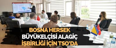 Bosna Hersek Büyükelçisi Alagiç, İşbirliği İçin TSO'da