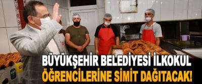 Büyükşehir Belediyesi İlkokul Öğrencilerine Simit Dağıtacak!