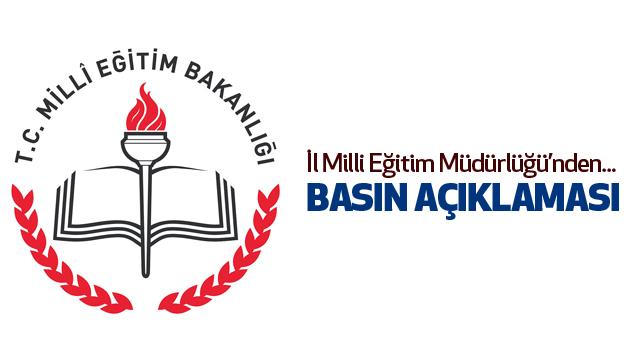 Samsun İl Milli Eğitim Müdürlüğü Basın Açıklaması...