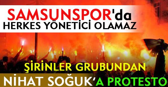 ŞİRİNLER GRUBUNDAN NİHAT SOĞUK'A PROTESTO