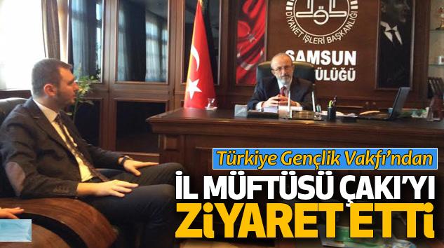 Türkiye Gençlik Vakfı'ndan İl Müftüsü Veysel Çakı'yı Ziyaret Etti