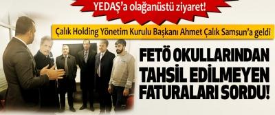 Çalık Holding Yönetim Kurulu Başkanı Ahmet Çalık Samsun'a geldi