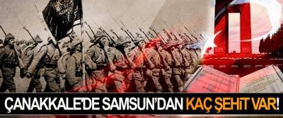 Çanakkale'de Samsun'dan kaç şehit var!