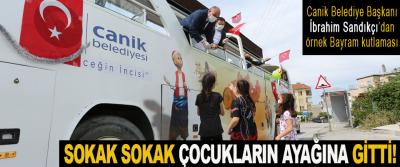Canik Belediye Başkanı İbrahim Sandıkçı'dan örnek Bayram kutlaması