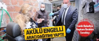 Canik Belediye Başkanı İbrahim Sandıkçı Akülü Engelli Aracı Dağıtımı Yaptı!