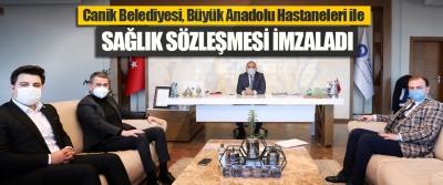 Canik Belediyesi, Büyük Anadolu Hastaneleri ile Sağlık Sözleşmesi İmzaladı