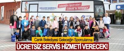 Canik Belediyesi Geleceğin Sporcularına Ücretsiz servis hizmeti verecek!