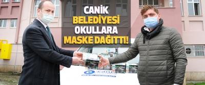Canik Belediyesi Okullara Maske Dağıttı!