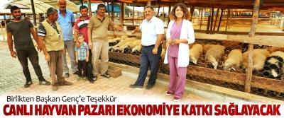 Canik Canlı Hayvan Pazarı Ekonomiye Katkı Sağlayacak