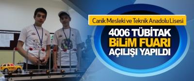Canik Mesleki ve Teknik Anadolu Lisesi 4006 Tübitak Bilim Fuarı Açılışı Yapıldı