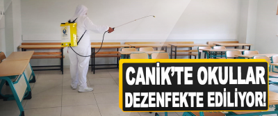 Canik'te Okullar Dezenfekte Ediliyor!