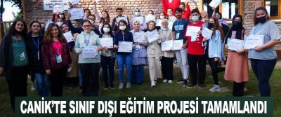 Canik'te Sınıf Dışı Eğitim Projesi Tamamlandı