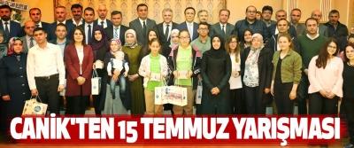 Canik'ten 15 Temmuz Yarışması