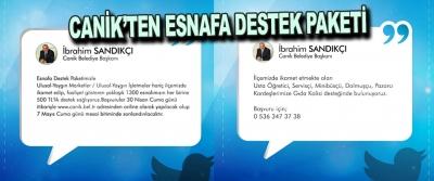 Canik'ten Esnafa Destek Paketi