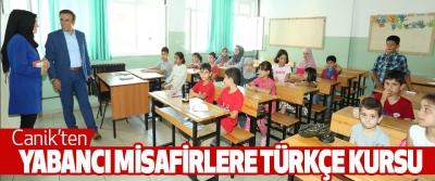 Canik'ten Yabancı Misafirlere Türkçe Kursu