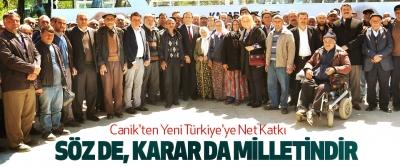 Canik'ten Yeni Türkiye'ye Net Katkı