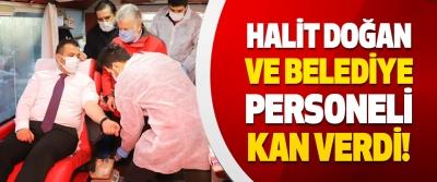 Çarşamba Belediye Başkanı Halit Doğan ve Belediye Personeli Kan Verdi!