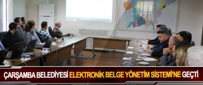 Çarşamba Belediyesi Elektronik Belge Yönetim Sistemi'ne Geçti