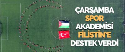 Çarşamba Spor Akademisi Öğrencilerinden Filistin'e Destek