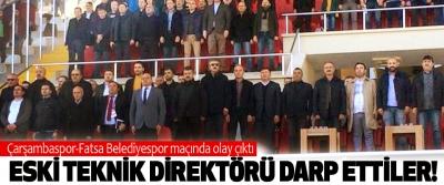 Çarşambaspor-Fatsa Belediyespor maçında olay çıktı