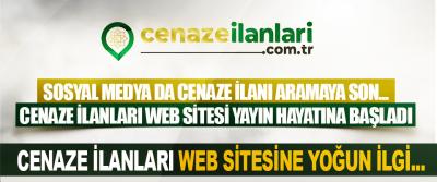 Cenaze ilanları web sitesine yoğun ilgi...