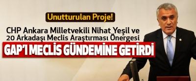 CHP Ankara Milletvekili Nihat Yeşil Ve 20 Arkadaşı Meclis Araştırması Önergesi