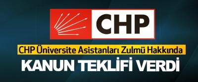 CHP Üniversite Asistanları Zulmü Hakkında Kanun Teklifi Verdi