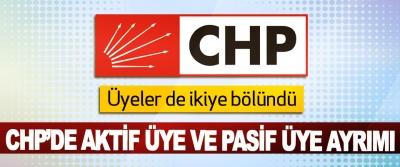 CHP'de aktif üye ve pasif üye ayrımı