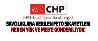CHP'li Necati Tığlı'dan Soru Önergesi