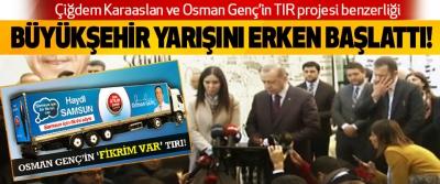 Çiğdem Karaaslan ve Osman Genç'in TIR projesi benzerliği