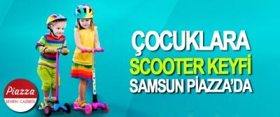 Çocuklara Scooter Keyfi Samsun Piazza'da