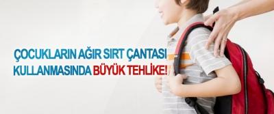 Çocukların ağır sırt çantası kullanmasında büyük tehlike!
