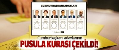 Cumhurbaşkanı adaylarının Pusula Kurası Çekildi!