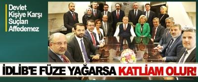 Cumhurbaşkanı Erdoğan: İdlib'e Füze Yağarsa Katliam Olur!