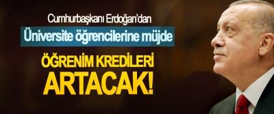 Cumhurbaşkanı Erdoğan'dan Üniversite öğrencilerine müjde, Öğrenim kredileri artacak!