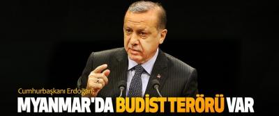 Cumhurbaşkanı Erdoğan; Myanmar'da Budist Terörü Var